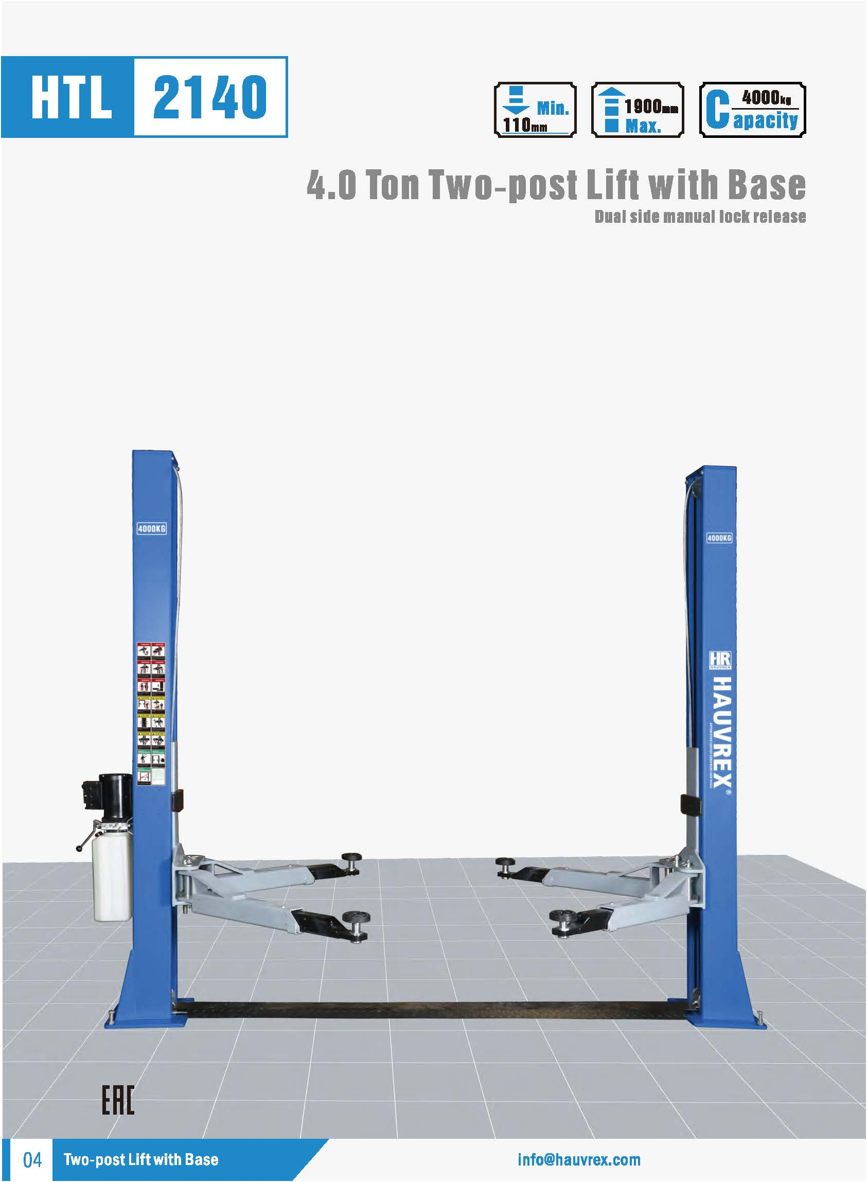HTL2140 Two-post Lift