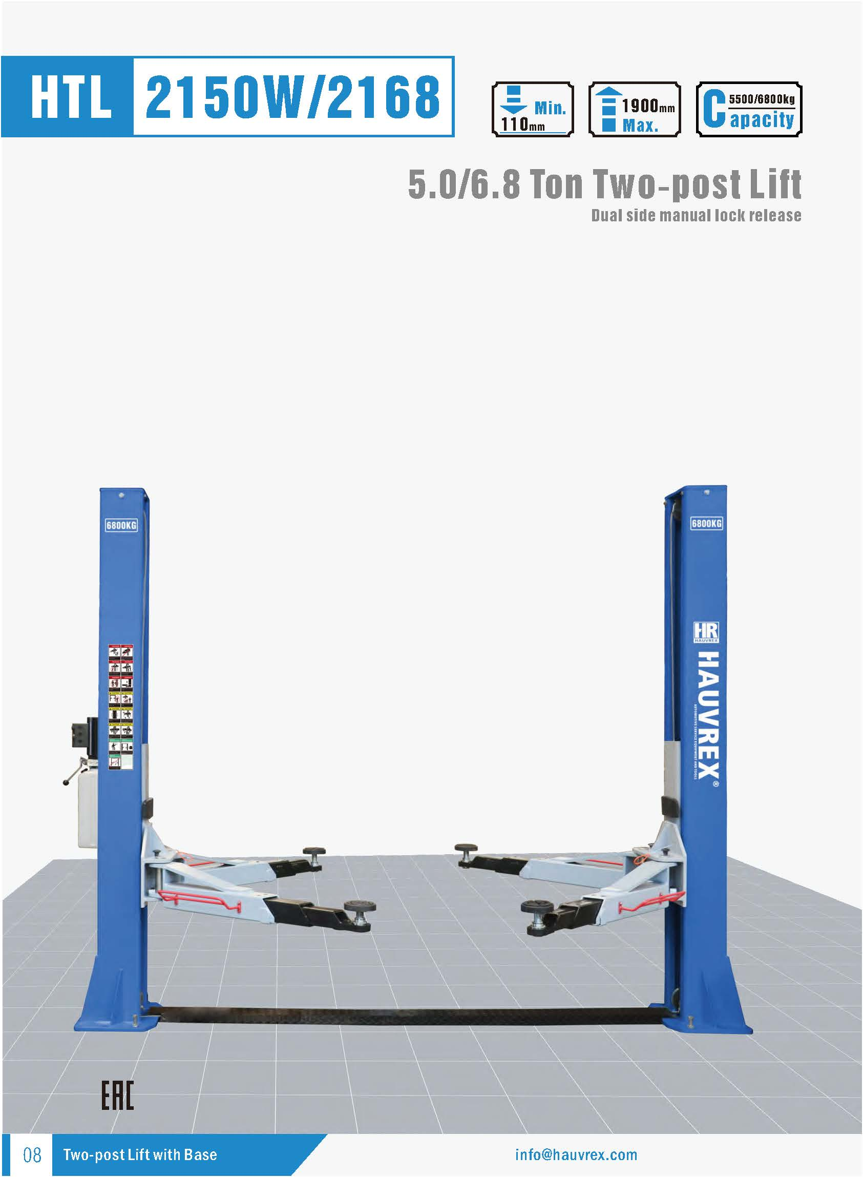 HTL2168 Two-post Lift