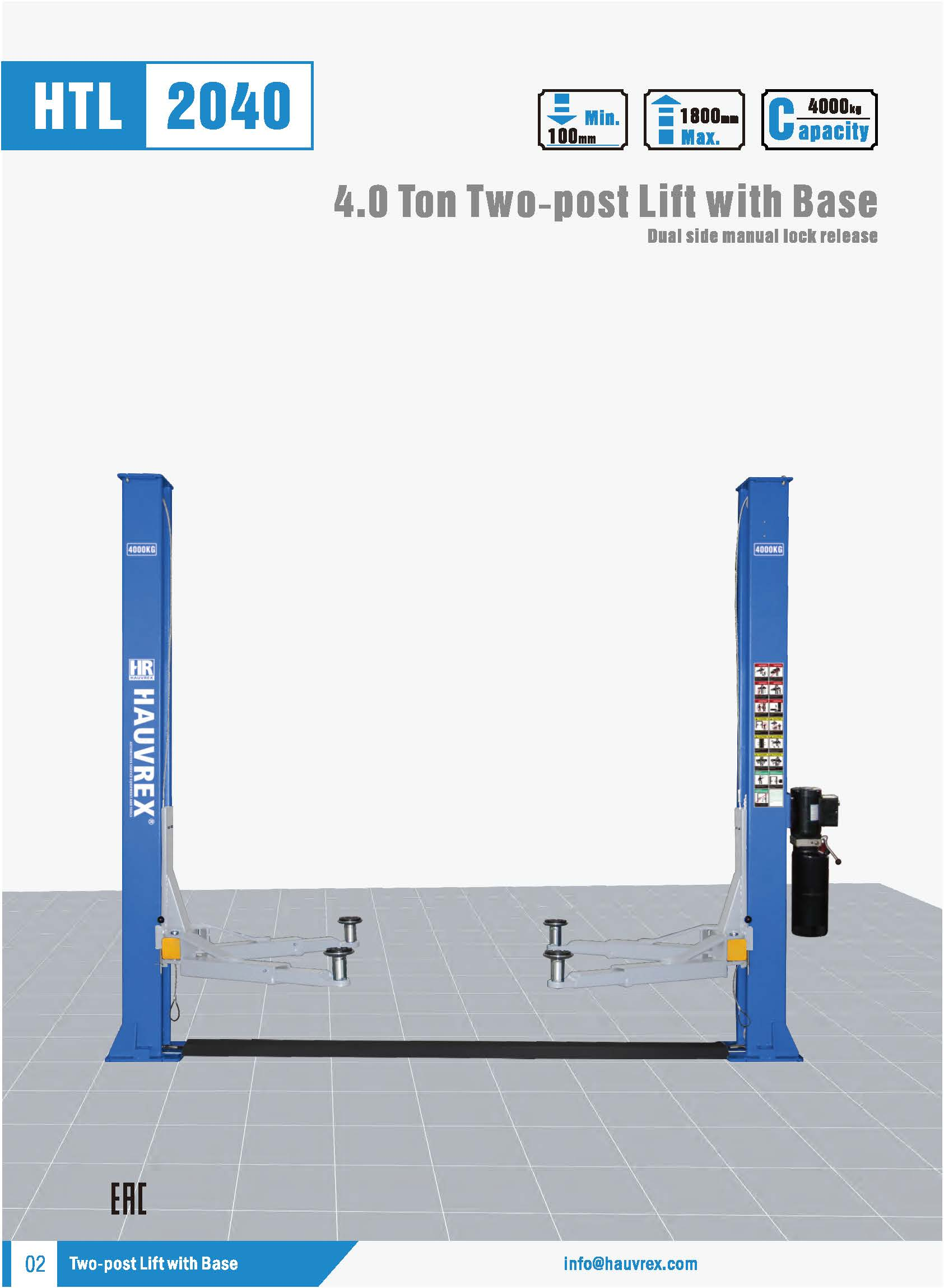 HTL2040 Two-post Lift