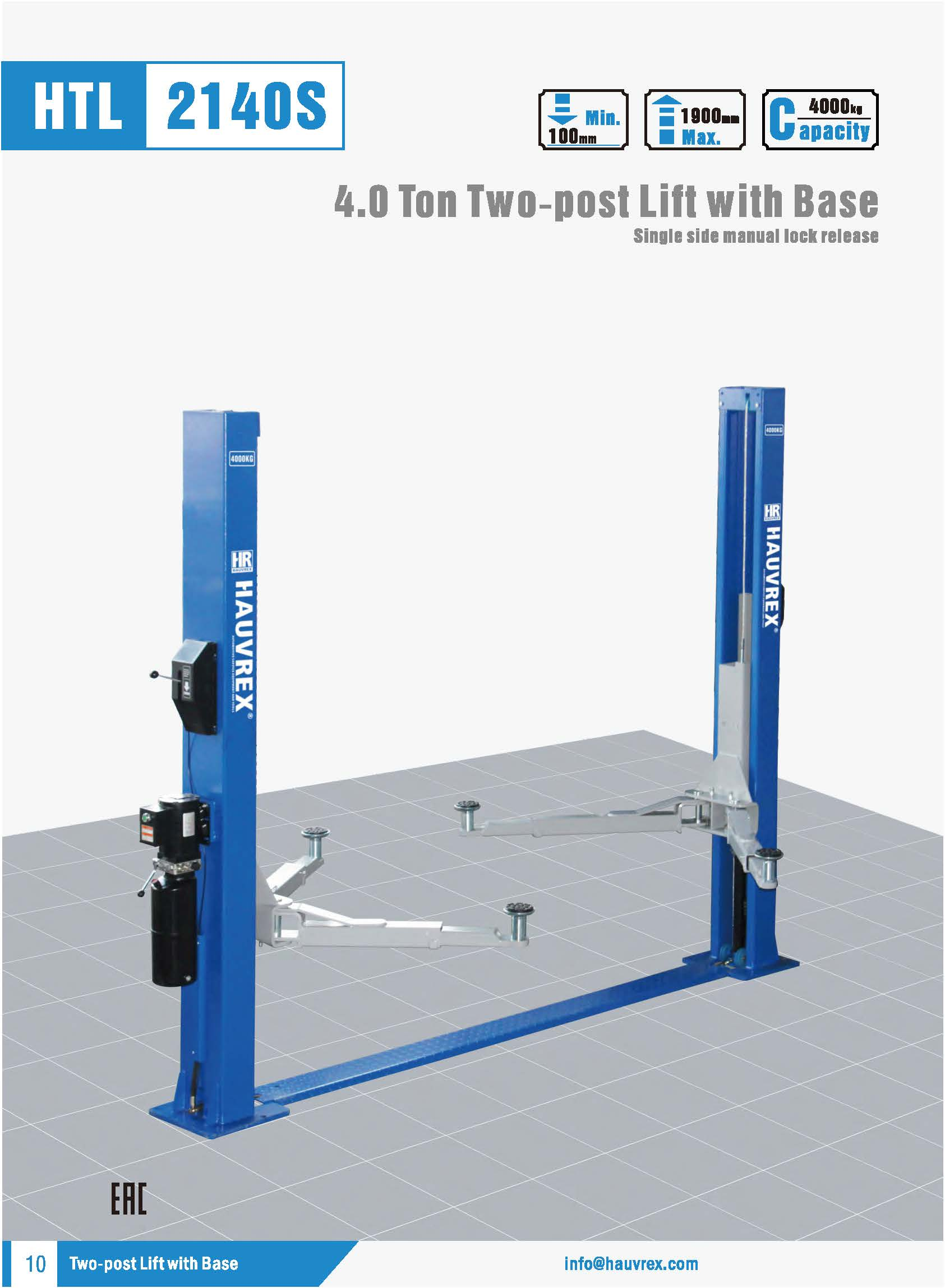 HTL2140S Two-post Lift