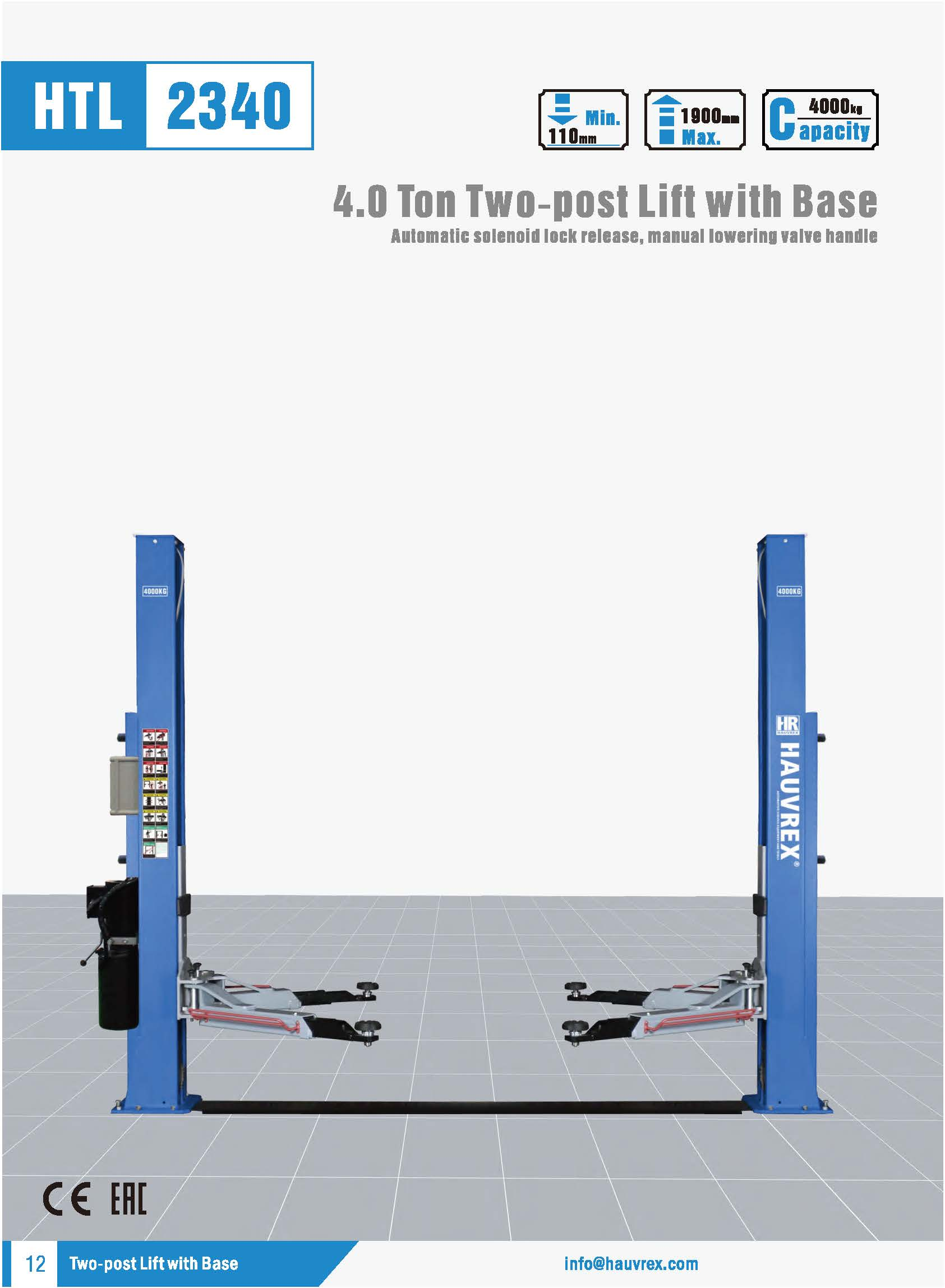 HTL2340 Two-post Lift