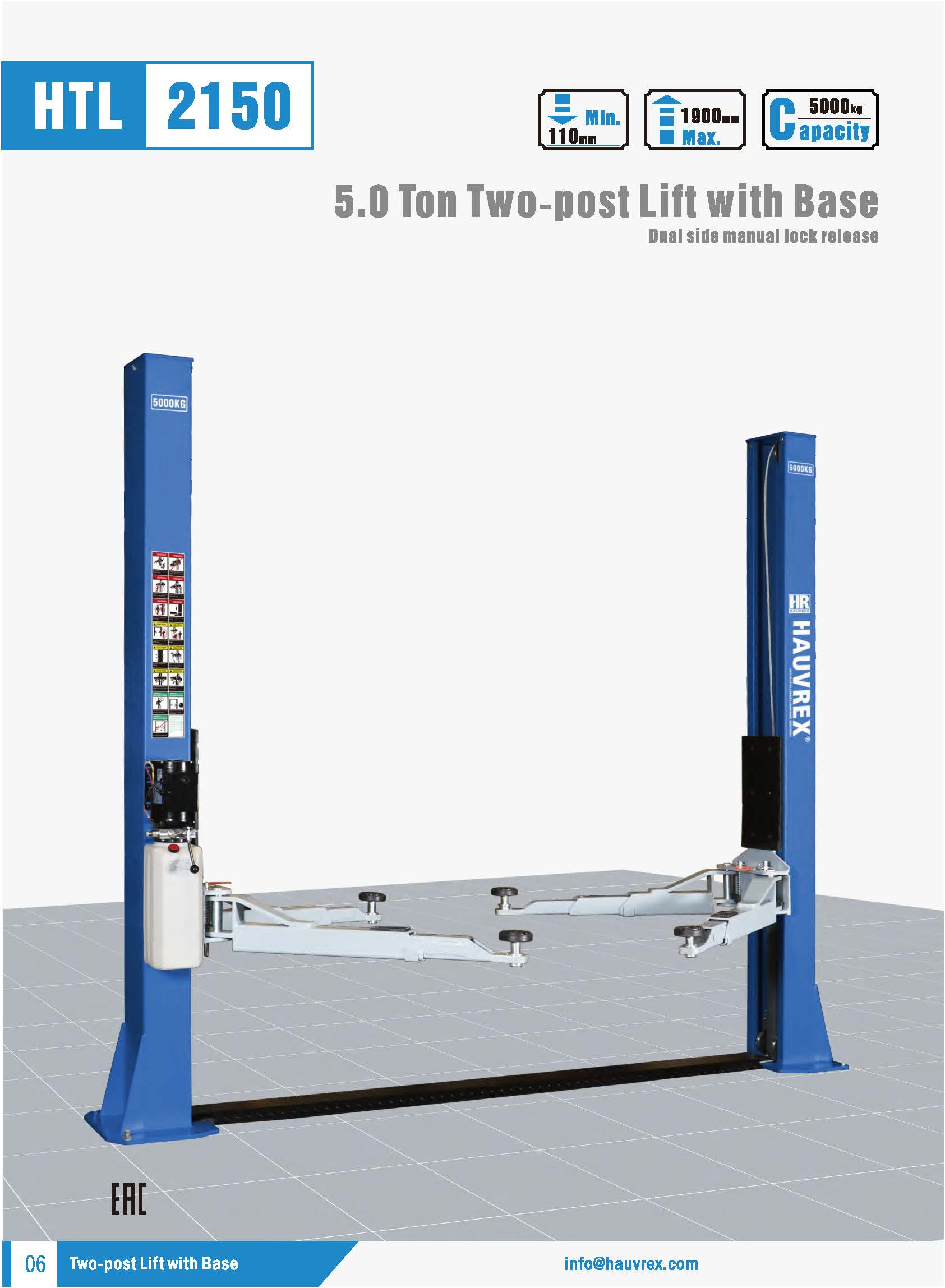 HTL2150 Two-post Lift
