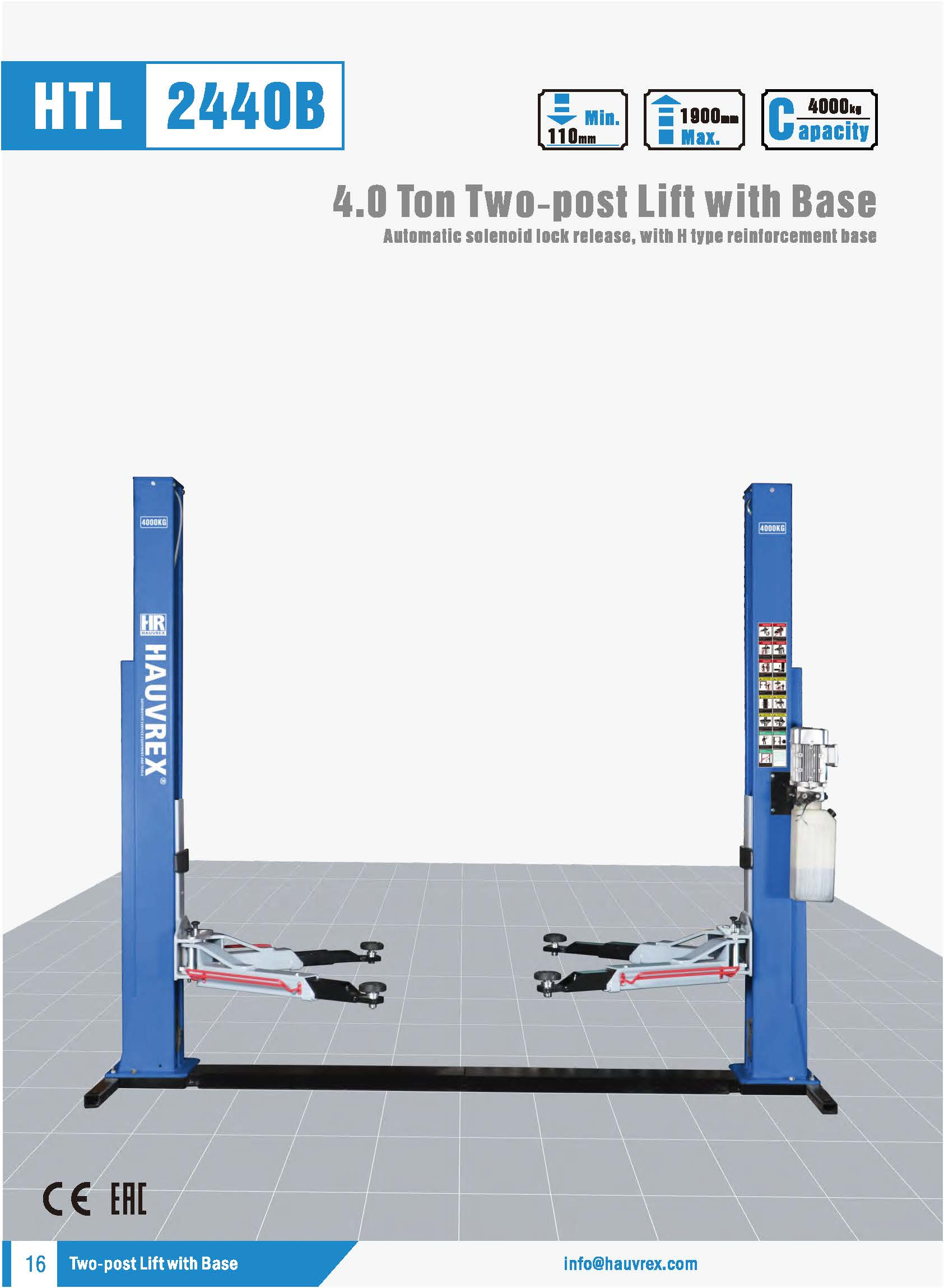 HTL2440B Two-post Lift