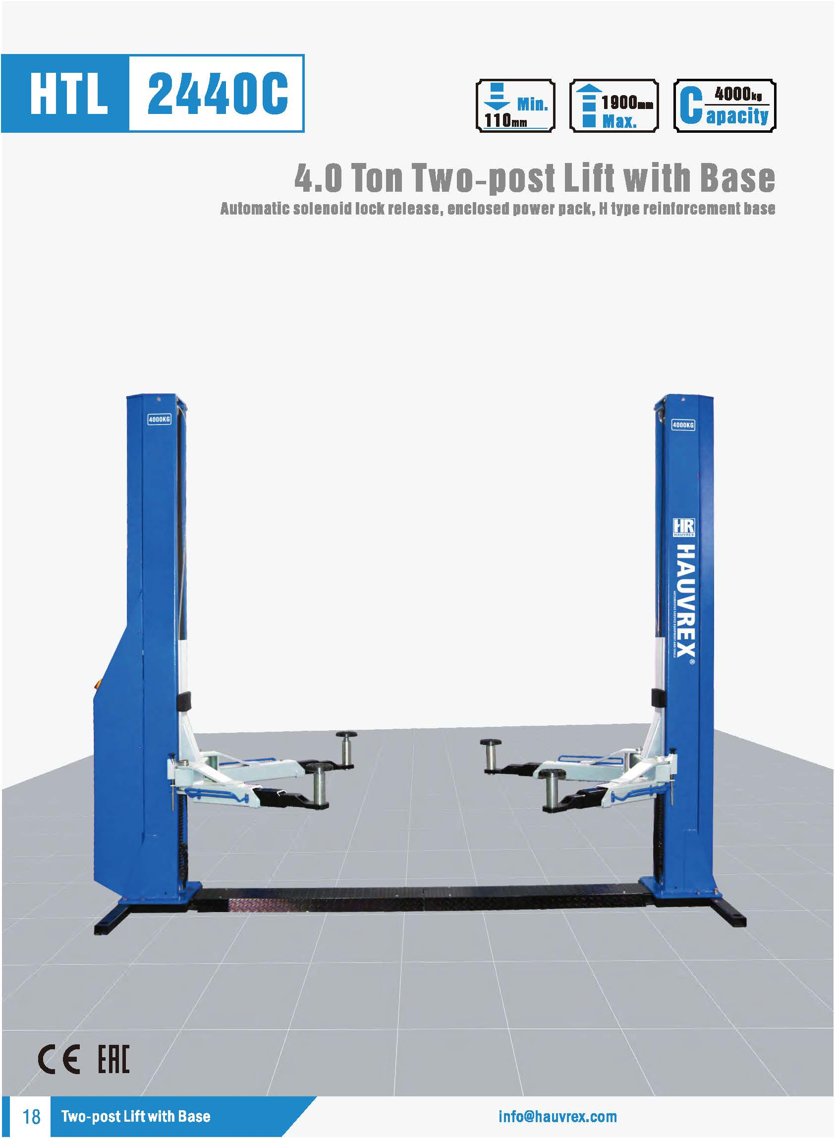 HTL2440C Two-post Lift