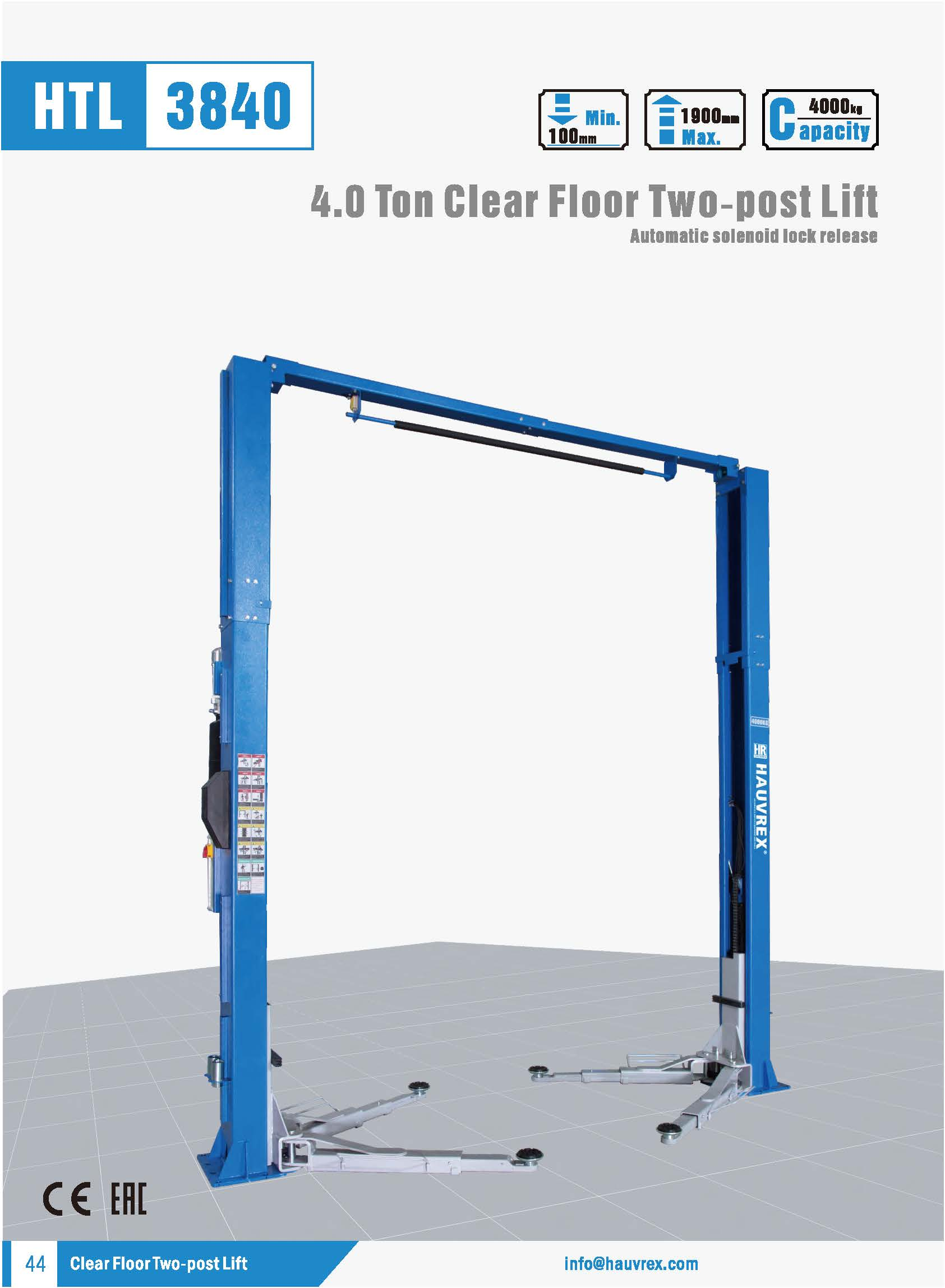 HTL3840 Two-post Lift