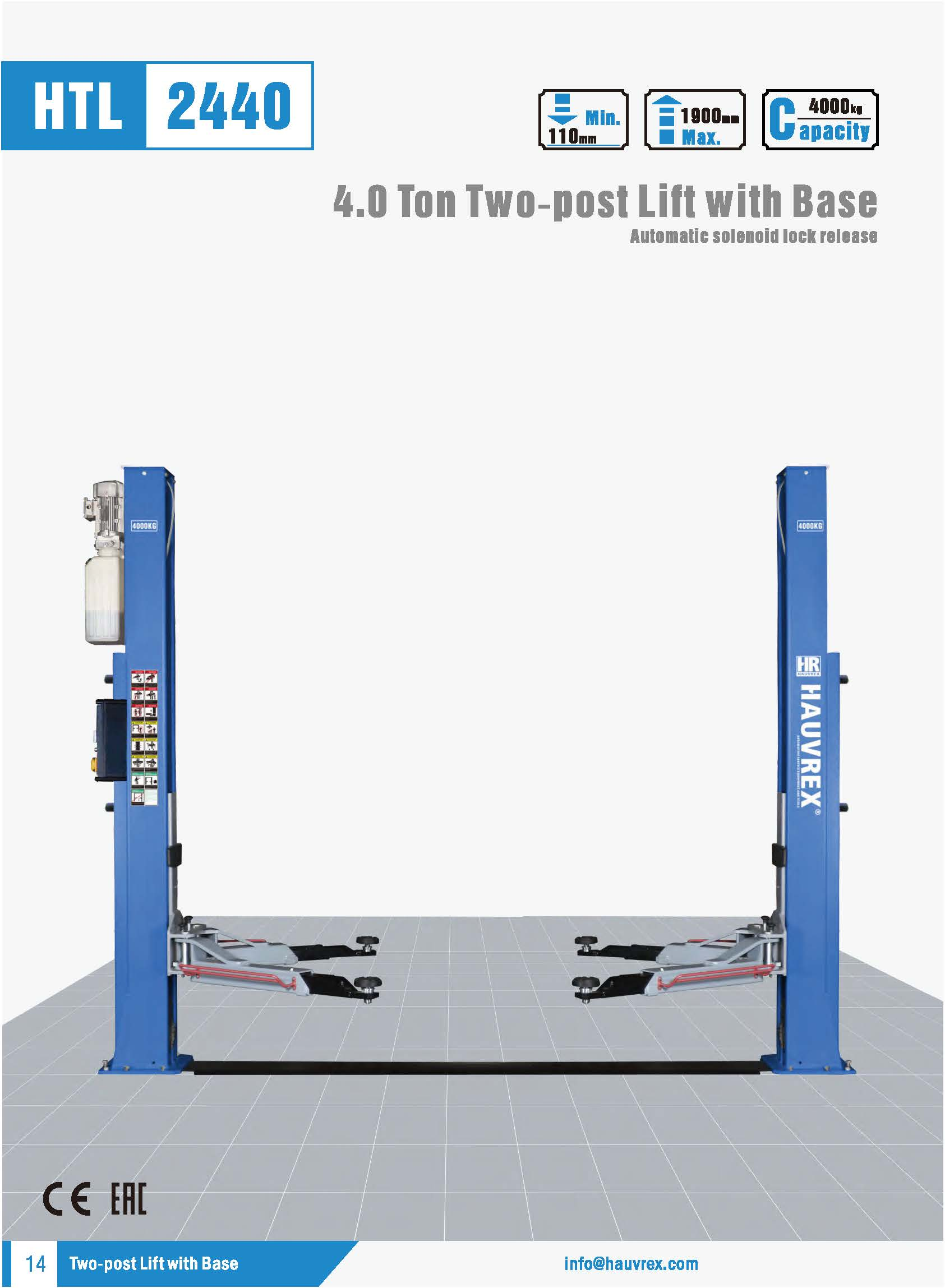 HTL2440 Two-post Lift